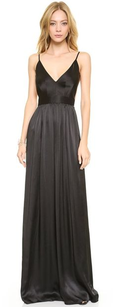 """Pin for Later: Say """"I Do"""" to the Best Bridesmaid Dresses in Every Color Black One by Contrarian Maxi Dress ($425)"""