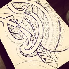 And added a bit of details to the sketch. Might start on a final piece tomorrow. Polynesian Tattoos Women, Polynesian Tattoo Designs, Polynesian Art, Tribal Tattoo Designs, Tribal Tattoos, Stammestattoo Designs, Maori Designs, Tattoo Sketches, Tattoo Drawings