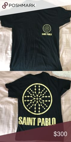 AUTHENTIC KANYE WEST SAINT PABLO TOUR MERCH SHIRT Authentic Kanye west yeezy Saint Pablo your merch t shirt from Boston date Yeezy Shirts Tees - Short Sleeve