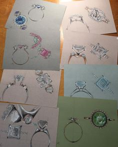 Some of my favorite engagement ring designs from the past several weeks …