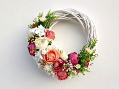 Summer By Wreath, Roses and Peonies Wreath, Outdoor Wreath, Floral Wreath, Doo … – Decor Ideas – Wreaths – Wreaths Summer Door Decorations, Spring Decoration, Summer Door Wreaths, Easter Wreaths, Holiday Wreaths, Yarn Wreaths, Spring Wreaths, Mesh Wreaths, Wreath Crafts