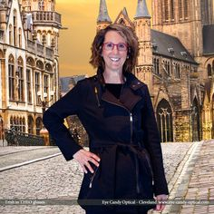 Trish looks fantastic exploring Belgium in her new designer glasses by Theo eyewear.  Eye Candy Eyewear Fashion looks as grand as a European Cathedral! Eye Candy Optical Cleveland – The Best Glasses Store! (440) 250-9191 - Book Eye Exam over the Phone www.eye-candy-optical.com/Vision_and_Exams - Book Eye Exam Online!