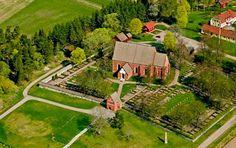 Vendel church was consecrated in 1310. Vendel, Tierps kommun, Uppland, Sweden