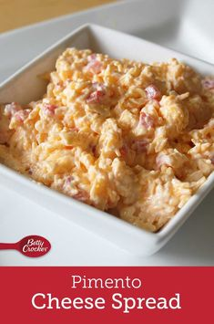 This is the ultimate pimiento cheese recipe. What makes this pimiento cheese better than average? Besides not using cream cheese, which is something the southern-raised experts in our test kitchens felt strongly about, this recipe calls for beating the cheese mixture to make it smoother and more spreadable. Dip Recipes, Cheese Recipes, Crockpot Recipes, Cooking Recipes, Holiday Appetizers, Appetizer Dips, Spreadable Cheese, Pimiento Cheese, Cold Sandwiches