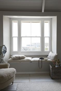 White Window Seat Paul Massey/Remodelista What will you do in the country? http://www.landedhouses.co.uk