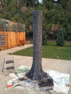 Make a fake tree for playroom