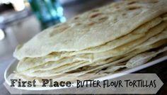 Homemade Flour Tortilla Recipe Test - Butter Flour Tortillas WON first place! See the recipe that won here!