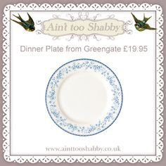 Dinner Plate by Greengate  <3