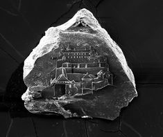 The Worlds Smallest Sandcastles Built on Individual Grains of Sand by Vik Muniz and Marcelo Coelho