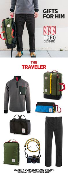 Gifts made just for the traveler- find picks for brothers, dads, boyfriends, or any frequent flyer on your list. #giftguide #GiftsforHim #giftsfordad