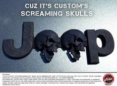 #CuzitsCustom Screaming Skulls Emblem for Jeeps