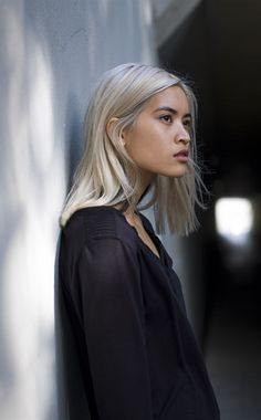Perfect inspiration for female character design | Photography portrait of young asian girl with blond hair | Writing help and inspiration for creating women for your book | Nanowrimo help