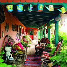 colourful porch