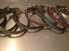 Be Different Zipper Bracelets in every color by RoxieJaneJewelry, $12.00