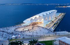 "Museum of Tomorrow receives ""Best Innovative Green Building"" MIPIM Award - Santiago Calatrava – Architects & Engineers Museum Architecture, Futuristic Architecture, Amazing Architecture, Architecture Design, Stadium Architecture, Green Architecture, Santiago Calatrava, Contemporary Building, Contemporary Architecture"