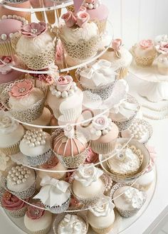 tiers of cupcakes