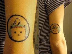 Cat tattoo perhaps...