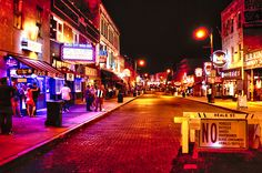 Beale Street is a street in Downtown Memphis, Tennessee, which runs from the Mississippi River to East Street, approximately 1.8 miles. It is a significant location in the city's history, as well as in the history of the blues. Today, the blues clubs and restaurants that line Beale Street are major tourist attractions in Memphis.     35.139518°N  90.051850°W