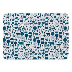 17 by 24-Inch Games /& Candy Multicolor Pattern Memory Foam Bath Mat Kess InHouse Stephanie Vaeth Toys 17 X 24