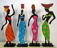 Bellas africanas para la mesa