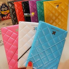 Simple Case With Pen Holder Credit ID Card Cover Holder Travel wallet Jian