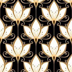 Estampado De Flores Adornado Inconsútil Ilustración del Vector - Ilustración de pintura, desfile: 38693857
