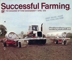 Interesting squadron hitch setup on the cover of the April 1978 Successful Farming magazine. #HeritageIron #MuscleTractor