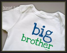 Big Brother Onesie or TShirt - Funny Baby Gift on Etsy, $16.00