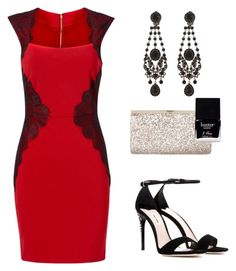 Lady in red 2 by jenny-shalev on Polyvore featuring Miu Miu, Jimmy Choo, Givenchy and Butter London