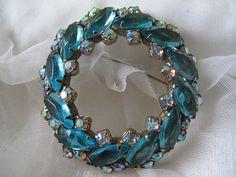 Turquoise Vintage Brooch by mimiyaya on Etsy, $35.00