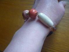 beaded assemblage bracelet ecofriendly beaded by CraftyGreenPoet