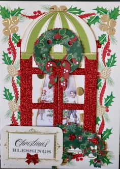 Christmas Cards To Make, Xmas Cards, Christmas Crafts, Window Ledge, Christmas Windows, Anna Griffin Cards, Window Cards, Explosion Box, Shaker Cards
