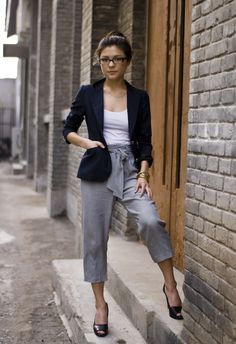 I love when an outfit adds a blazer, but these pants are killer! Must invest in them both!