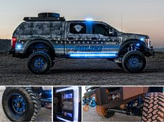 In today's political climate, symbolic tributes to law enforcement are few and far between. The folks at Skyjacker Suspension set out to shift that se. Lifted Ford Trucks, 4x4 Trucks, Custom Trucks, Custom Cars, Tonka Trucks, Police Truck, Police Cars, Police Vehicles, Hot Wheels Cars