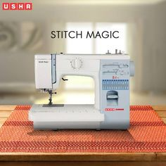 Make and tack button holes easily with the USHA Janome Stitch Magic!