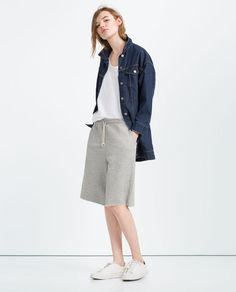 ZARA - WOMAN - PLUSH UNISEX BERMUDA SHORTS