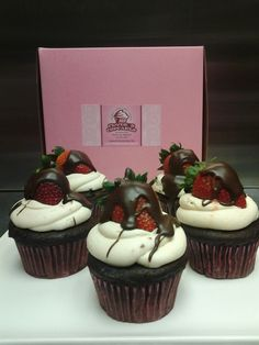 Why not indulge in a yummy strawberry and chocolate cupcake!!!!!