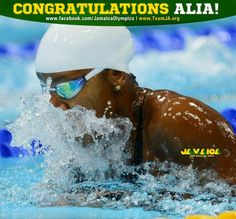 Jamaica's number 1 swimmer, silver medal