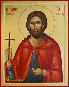 SAINT_JOHN_OF_TRAPEZOUNTA-web Byzantine Icons, Byzantine Art, Jesus Christus, Orthodox Christianity, Knights Templar, Orthodox Icons, Saints, Religion, Gallery