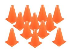 Fun Express Set of 12 Sport Training Traffic Orange Cones Soccer Cone Rodeo Party, Race Car Party, Horse Party, Youth Soccer, Play Soccer, Football Soccer, Football Training Drills, Sports Training, Training Equipment