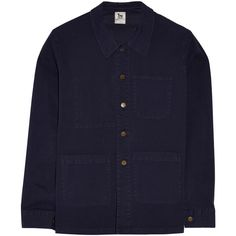 LA't by L'Agence Deck cotton-poplin jacket (285 BRL) ❤ liked on Polyvore featuring outerwear, jackets, navy, navy blue jackets, l agence jacket, navy deck jacket, navy jacket and deck jacket