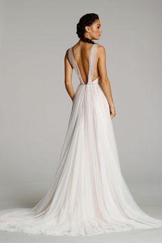 Ti Adora by Alvina Valenta - a-line, sheer, deep open back wedding dress