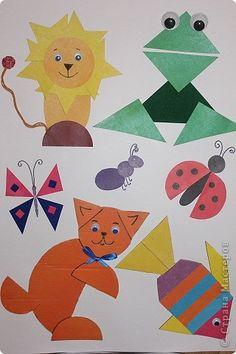 Картинки фигур животных из геометрических фигур