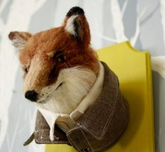 Needle Felted Fox Taxidermy by LittleTeethMarks on Etsy Why not? This thing is funny.
