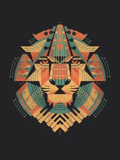 A musical lion print by DKNG.