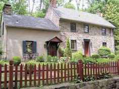 A charming circa 1750 fieldstone Colonial in Pennsylvania