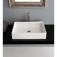 Teorema Rectangular Vessel Bathroom Sink