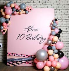 Kids party ideas girl balloon arch / Арт арка. Идея для стильного детского праздника для девочки. Фотозона. Прессвол.