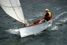 Lightweight Goat Island Skiff sailing boat with modern performance