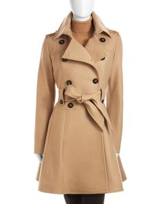 Laundry by Shelli Segal- I WANT RIGHT NOW!... I love a classic camel trench <3